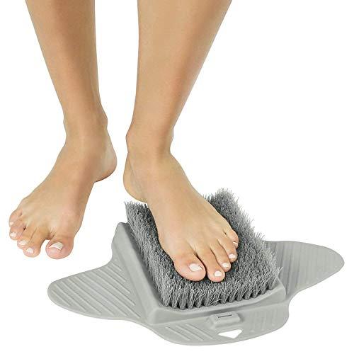 Powcan Pediluvio da doccia Vasca da bagno Spazzola da pavimento per la pulizia dei piedi Suole e callo - Ventose antiscivolo, Tappetino per digitopressione Tappetino per piedi