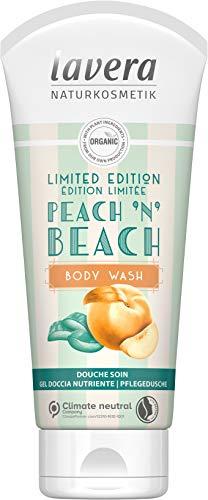 lavera Lavado corporal Peach 'N' Beach, Melocotón Orgánico & Aloe Vera Orgánico, cosméticos naturales, vegan, certificado, 200ml