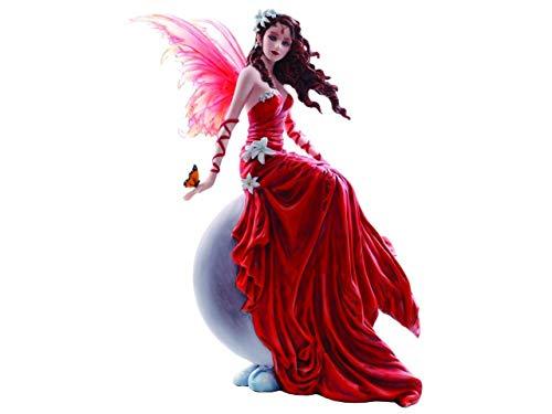 Nemesis Now CRIMSONLILY Nene Thomas - Statuetta decorativa con fata rossa, 28,5 cm