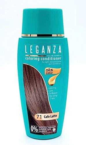 Risparmio Pack 2 x Balsamo Condizionatori Colorazione per Capelli Color 71 Caffè al Latte con 7 Oli Naturale Senza Ammoniaca e Parabeni