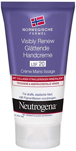 Neutrogena Formula Norvegese visibly Renew glaettende Hand Creme con SPF 20, elasticità steigernde Crema Idratante Per La Pelle Secca e le mani, 75ML