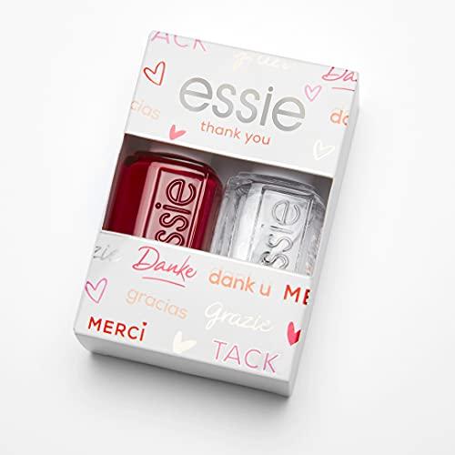Essie Smalto Essie Base e Manicure, Kit Colore + Gel Fissante, Forever Yummy e Good To Go, Confezione da 2