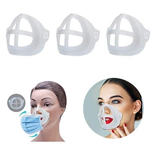 S-Chihir 3D Maschera Staffa for Lipstick Proteggi Homemade Titolare Maschera Kit con Supporto Interno Cornice, Maschera for Il Viso Accessori Confortevole Holder Lavabili riutilizzabili