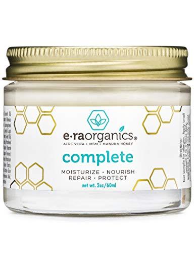 Crema idratante naturale per il viso da 60ml 10-in-1 non grassa con aloe vera bio, miele di Manuka, olio di cocco e altro. La crema viso migliore per le pelli secche, grasse, danneggiate e sensibili