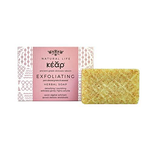 KEAR NATURAL Sapone Esfoliante alle Erbe, Saponetta Scrub, Cellulite, Sapone di Bellezza alle Erbe Antiossidante, Barretta - 100 g