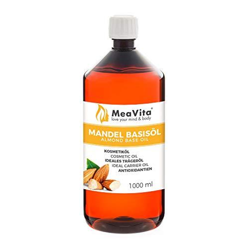 MeaVita Olio di Mandorle Meavita - Olio di Base Puro al 100%, 1 Confezione (1 X 1000 Ml) - 1000 ml