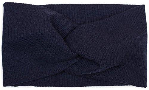 styleBREAKER fascia per capelli a coste sottili con nodo, fascia per capelli, da donna 04026009, colore:Blu scuro