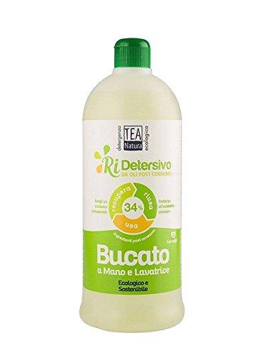 TEA NATURA Ri-Detersivo a Mano & in Lavatrice - Da oli post consumo - Ottima resa - Bucato morbido e pulito - Economico - 1 lt