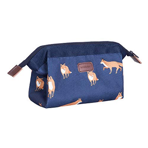 Animals Flamingo Fox Cosmetic Bag Women Necessaire Flower Make Up Bag Travel Waterproof Portable Makeup Bag Toiletry KitsC 18*19*13cm