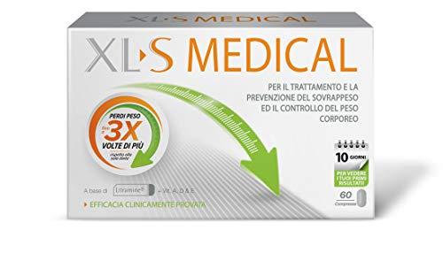 XL-S Medical Trattamento che Aiuta a Catturare i Grassi, 60 Compresse