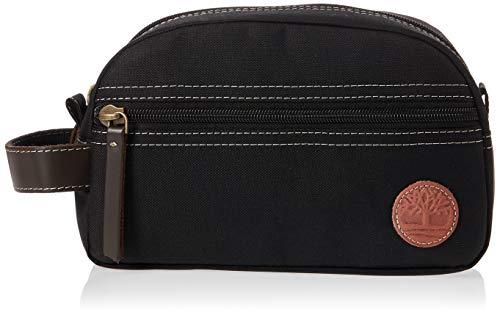 Timberland Men's Travel Kit Toiletry Bag Organizer, Black, One Size
