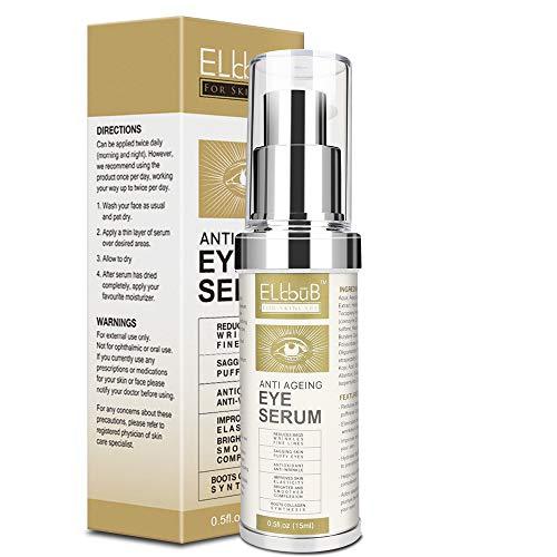Siero Contorno Occhi Antirughe - Miglior Trattamento Occhiaie Borse Rughe Per Uomo e Donna - Siero Anti-rughe Occhi Anti-invecchiamento