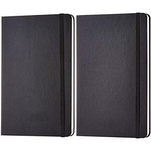 Amazon Basics - Taccuino classico, misura grande, a quadretti & - Taccuino classico, misura grande, pagine bianche