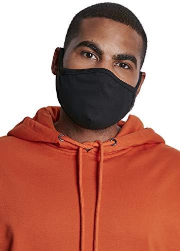 Urban Classics Cotton Face Mask 2-Pack Maschera di Tutti i Giorni, Black, Taglia unica Unisex-Adulto