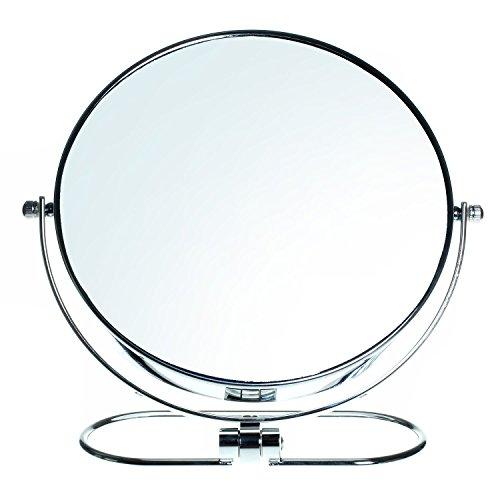HIMRY Pieghevole Specchio Cosmetico Doppia Faccia 8 Pollici, 10X Ingrandimento, Specchio da Tavolo, Specchio da Trucco Specchio Bagno da Barba Rasatura, KXD3125-10x