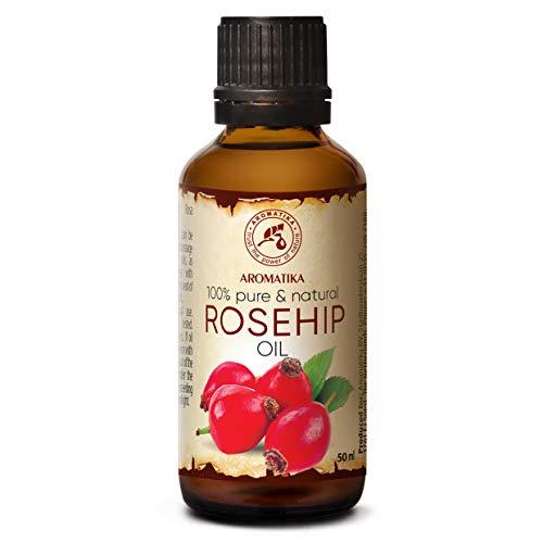 Olio di Rosa Canina 50ml - Rosa Canina Fruit Oil - Cile - Naturale e Puro al 100% - Cura Intensiva per Viso - Corpo e Capelli - Uso Puro - Bellezza - Relax - Massaggi - Ingredienti di Qualità