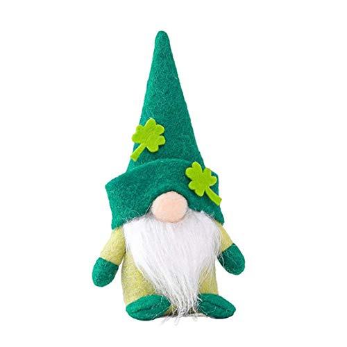 Patricks Day Gnome Tatuaggi Gnome pupazzo di pezza senza volto bambola svedese Nano irlandese decorazione verde Nano per il giorno Accessori cucina di Patrick