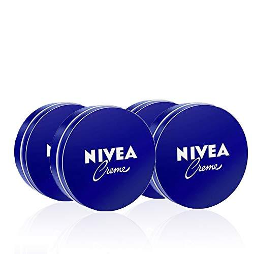 NIVEA Creme Crema multiuso classica in confezione da 4 x 150ml, Crema nutriente a base di Eucerit, Crema bambini e adulti dermatologicamente testata
