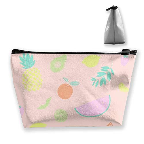 The Good Twin Fruit Makeup Bag Grande borsa da viaggio trapezoidale per la conservazione Lavare la cerniera del portamatite per cosmetici