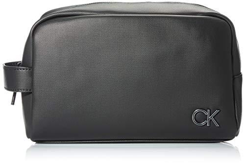 Calvin Klein WASHBAG, Accessori Portafogli da Viaggio Uomo, Black, One Size