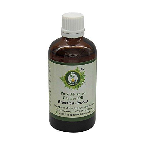 R V Essential Puro Senape Vettore Olio 15ml (0.507oz)- Brassica Juncea (100% Pressato a Freddo Puro e naturale) Pure Mustard Carrier Oil