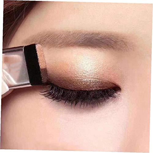 Uayasily 1pc Pigro Ombretto Impermeabile Ombretto Bicolore Trucco Glitter Gradient Eye Shadow Palette Rapida Insieme 'ombretto con La Spazzola (02)