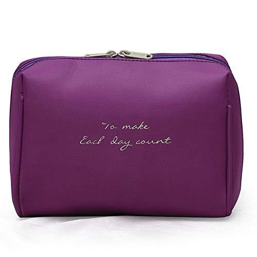 BYBAY Portable makeup Organizer Bag Girls Cosmetic Bag Toiletry Travel Kits Storage Bag Ladies Organizer Case, Purple