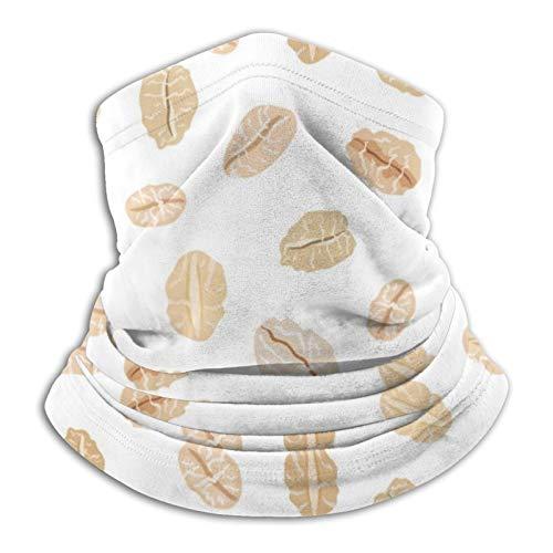 ZVEZVI Farina d'avena su Bianco Cibo e Bevande Maschera da Sci Maschera per Il Freddo Maschera per Il Viso Scaldacollo Cappuccio in Pile Cappelli Invernali
