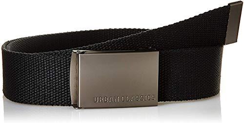 Urban Classics Canvas Belt, Cintura Uomo, Taglia Unica, Nero