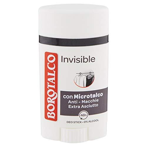 BOROTALCO DEODORANTE STICK INVISIBLE CON MICROTALCO ANTI MACCHIE 40 ML