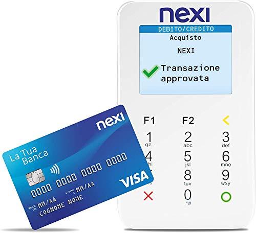Nexi - Mobile Pos - Lettore Elettronico Portatile Contactless per Bancomat, Carta di Credito, Prepagata, Apple Pay e Google Pay - Firma Digitale con App Nexi Mobile