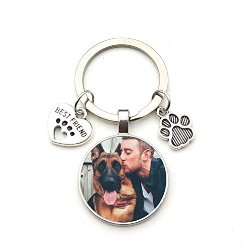 Portachiavi Portachiavi personalizzati Dog Dog Photo Keychain I Love Dog Glass Crystal Ciondolo Mini Cuore Portachiavi Keychain Car Key Man and Girl Regalo preferito Souvenir Portafogli e accessori ta