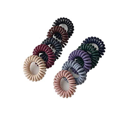 10 pezzi elastici per capelli a spirale fasce elastiche per capelli in plastica porta coda di cavallo donne ragazza piccolo cavo telefonico bobles corda fascia accessori per capelli