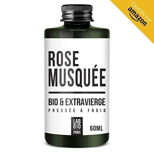 Olio di Rosa Canina biologico 100% puro e naturale, pressato a freddo e extra vergine. Effetto riparatore, cura dei capelli, anti-età. Idrata i capelli e rassoda la pelle. (60ml)