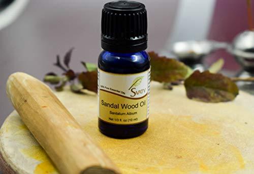 SVATV Sandalwood (Santalum Album) Olio essenziale 10ml Grado terapeutico
