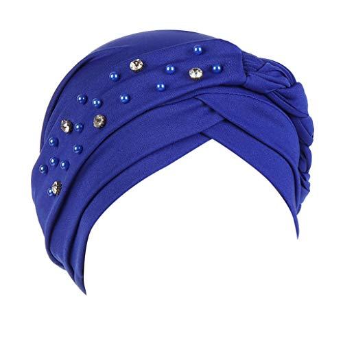 Xmiral Cappellino Cappello Donna Traspirante, Elastico, Slouch Beanie sportivo ed elegante modello design unicolore Cappelli Cappello per Capelli Taglia unica Blu