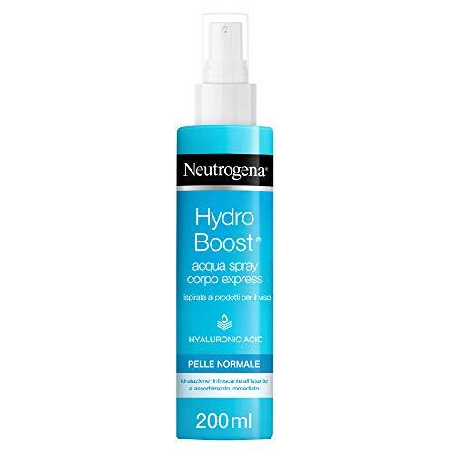 Neutrogena, Acqua Spray Corpo Express, Hydro Boost, con Acido Ialuronico, Idratante, 200ml