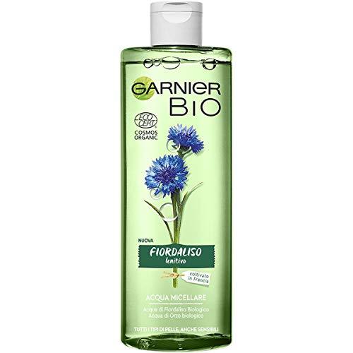 Garnier Bio Acqua Micellare Fiordaliso Lenitivo, Formula Arricchita con Acqua d'Orzo Biologico e Glicerina Vegetale, 400ml