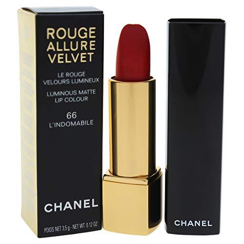 Chanel Rouge Allure Velvet il rossetto mat luminoso Rossetto Mat 3,5g 66L 'Indomabile