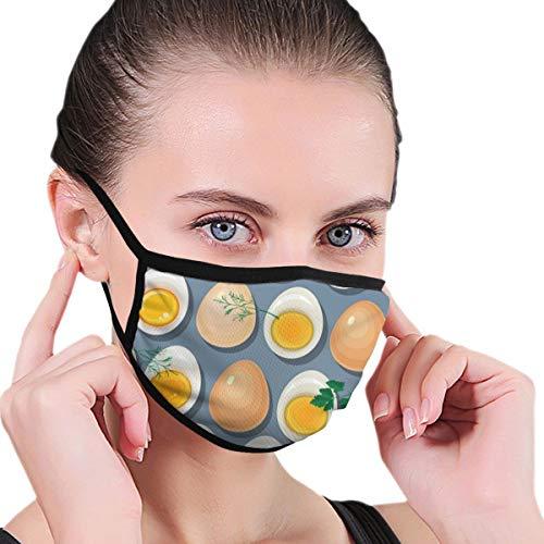 tuorli d'uovo e prezzemolo Copri bocca regolabile Maschera facciale lavabile Sciarpa sottocasco Passamontagna Scaldacollo riutilizzabile