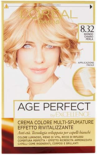 L'Oréal Paris Excellence Age Perfect Effetto Rivitalizzante 8.32 Biondo Chiaro Perla
