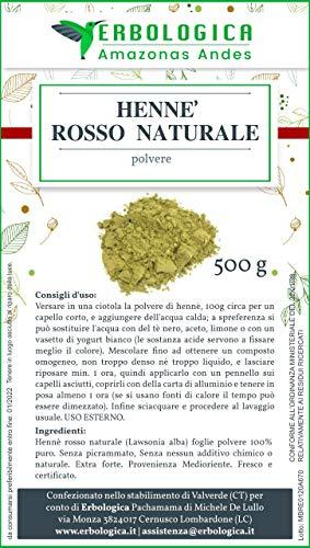 Henne rosso 500 grammi 100% naturale