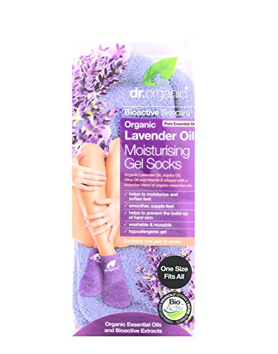 Dr. Organic Lavender Moiusturising Gel Socks - Calze Idratanti