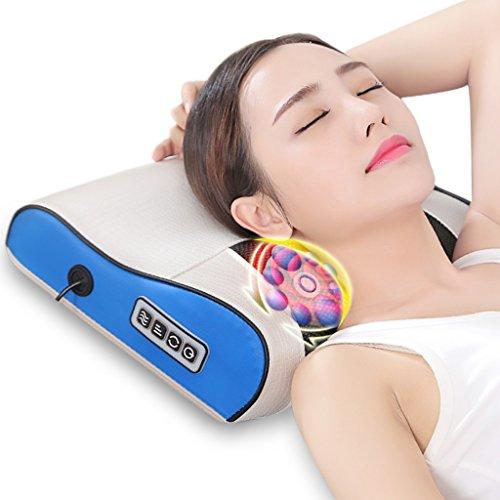 Sedia pieghevole Poltrone reclinabili Cuscino da Massaggio Massaggiatore cervicale Cuscino per Massaggio Multifunzionale con Spallina Posteriore Collo Cuscino Elettrico per Uso Domestico