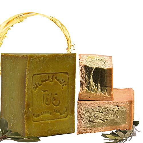Sapone originale Aleppo da 200 g, 50% olio di alloro e 50% olio di oliva. Vegan, sapone naturale, Detox Caratteristiche: sapone da doccia, sapone da barba, ricetta tradizionale dall'Oriente