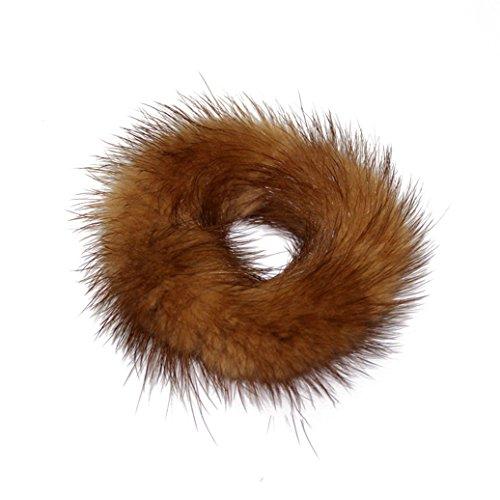 display08 Elastico per capelli con pelliccia sintetica