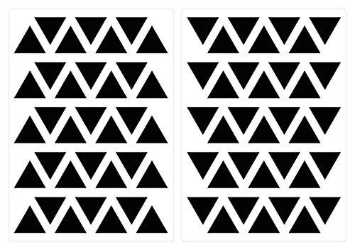 dekodino® Adesivo murale triangoli in nero 70 pezzi set decorazione
