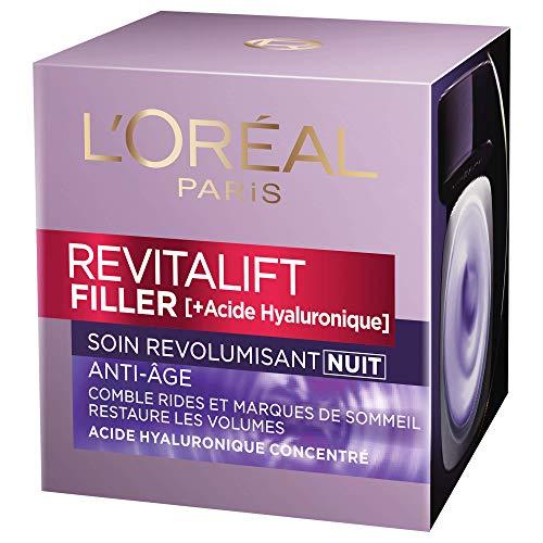 L'Oréal Paris Revitalift – Filler – Trattamento notte rivitalizzante – antirughe e volume – Anti-età – concentrato di acido ialuronico – 50 ml