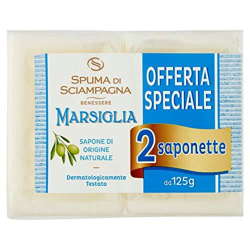 Spuma di Sciampagna Saponetta Naturale Marsiglia 2 Pezzi - 120 Gr