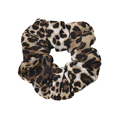 Scrunchies per capelli leopardati modello serpente animale stampa coda di cavallo supporto morbido elastico per capelli legami elastico anello corda per le donne ragazze calde